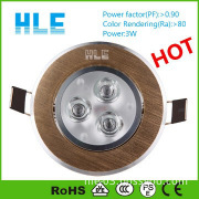 3w which led downlight suit for indoor housing