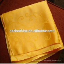 New Arrival Design Gold Jacquard Fabric Hotel Used Cotton Napkins Wholesale