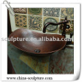 copper vessel sink for hotel decoration/metal sink