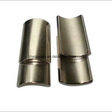 Imanes de motor de neodimio, forma de arco con recubrimiento de níquel