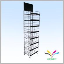 Kundenspezifische freistehende, haltbare Metalldraht-Einzelhandelsladen-Display-Racks