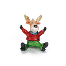 Customizable Sitting Deer Blown Glass Ornament Christmas Decoration