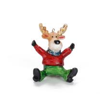 Kundengerechte sitzende Rotwild-durchgebrannte Glasverzierungs-Weihnachtsdekoration