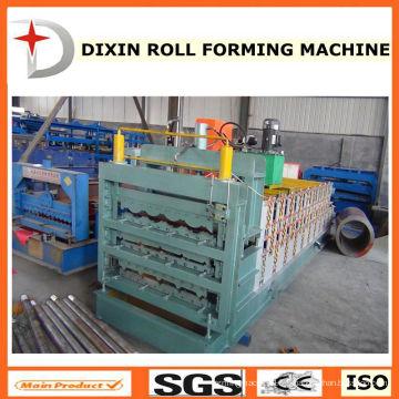 Machine de fabrication de feuilles de toit galvanisé à carreaux carrelés à trois couches