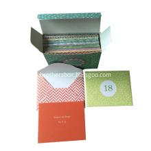 Printed Envelope Greeting Cards Sets with Box