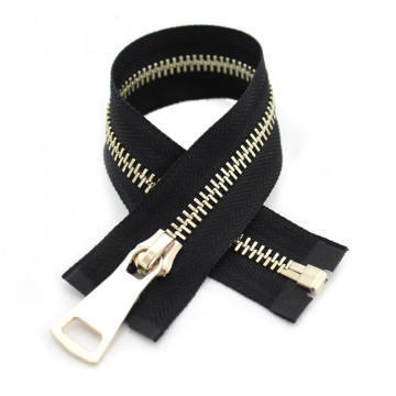 Clothing Separating Shiny Gold Brass Metal Zipper