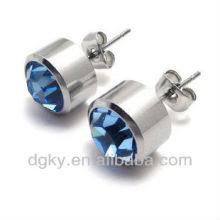 Magnetic earrings plugs,men CZ ear stud
