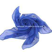 Fashion Charming Beautiful Dots Square Scarf for Lady