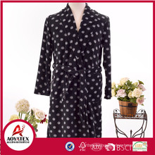 100% polyester printed polar fleece knitted bathrobe