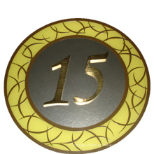 Número de piso de señal de metal de señalización direccional