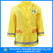 Vente en gros Cartoon Hi Vis Yellow Raincoats for School Children