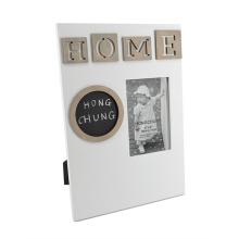 Frame de madeira com placa preta para a decoração Home