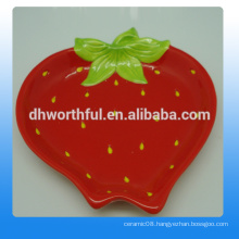 High quality strawberry ceramic plates wholesale