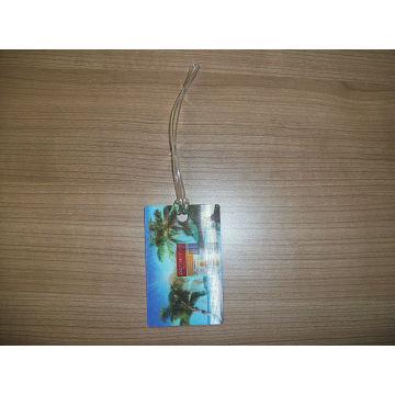Etiqueta de equipaje de efecto 3D personalizado de buena calidad con cuerda de PVC