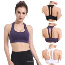 camisetas sin mangas de yoga para mujer con sujetador incorporado