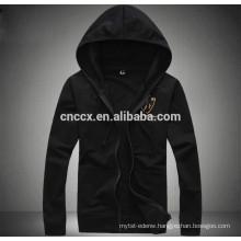 15PKH08 2015 100%poly fleece cardigan zip-up plain thick hoodies