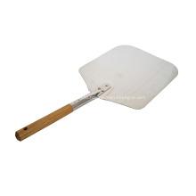 Алюминиевая лопата для пиццы 14 дюймов с деревянной ручкой