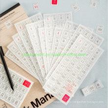 365days Calendar Japanese Paper Stickers of 12PCS Per Set