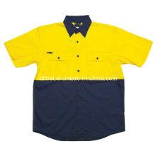 100%Cotton Reflective Short Sleeve Polo Shirt