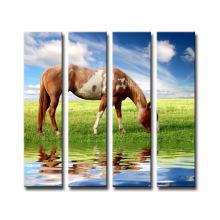 Decoración de pared Pintura de la impresión del caballo de la lona de la venta caliente