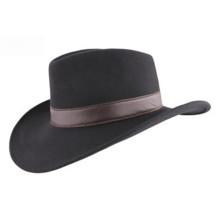 100% Wool Women Felt Hat Big Brim with PU Belt (CW0001)