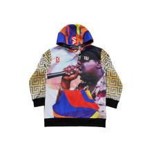 Sweat à capuche sport à manches longues de style Chemise à capuche de hip hop populaire (H5017)
