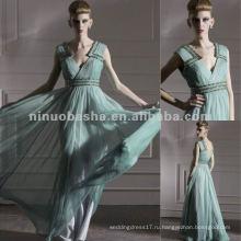 Нью-Йорк-2568 уникальный дизайн V-образным вырезом Империи военным вечернее платье