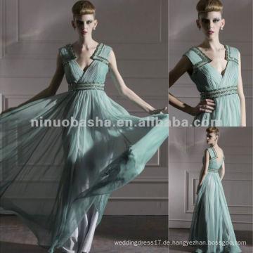 NY-2568 Einzigartige Entwürfe V-Ansatz langes Reich-Militärabend-Kleid