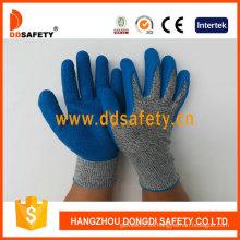 Guantes de seguridad anti-corte de alto rendimiento, látex recubierto de palma (DCR310)