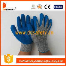 Luvas de segurança anti-corte de alto desempenho, revestidas com látex na palma (DCR310)