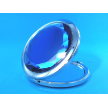 65mm Special Blue Pocket Cosmetic Mirror for Promotion Gifts