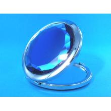 Espelho cosmético do bolso azul especial de 65mm para presentes da promoção
