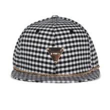 Allover Fashion Plaid Cap Triangle Casquettes étiquetées