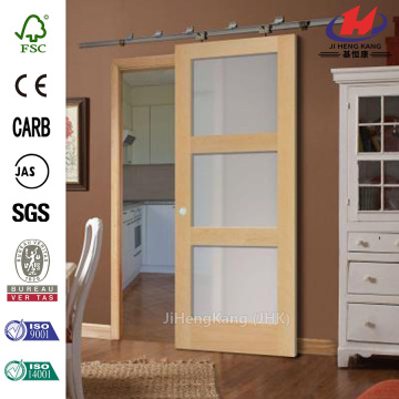 Hotel Frosted Glass Inserts Interior Sliding Barn Doors