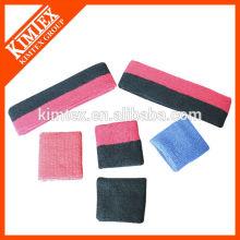 Terry algodón barato al por mayor costumbre conjuntos de sweatband