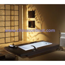 Sunboat Cast Iron Bathtub Single Bathtub Embedded Slip Deepened Enamel Bathtub