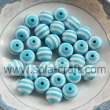 2014 Turquoise & White Zebra Latest Design 12MM 500Pcs Wholesale Jewelry Shamballa Pandora Round African Wedding Beads