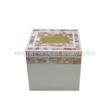 Pink Shell Tissue Box for Table Decoration for Dining Table