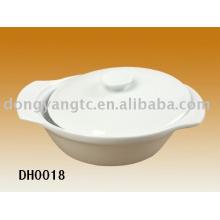 Sopera oval de porcelana al por mayor directa de fábrica