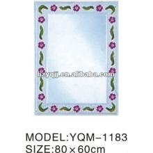 Hangzhou Xiaoshan 4mm de espesor de plata o aluminio Empaistic Espejo de baño de capa simple o doble