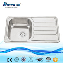 DS 7848 single bowl with drainboard stainless steel washing sink stainless steel counter top upc undermount sink