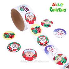 Рождество стикер рулон бумаги