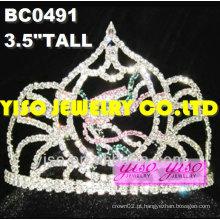Coroas de desfile de strass de beleza