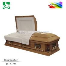 De alto nível sólido de madeira americanas decorativo de madeira caixões