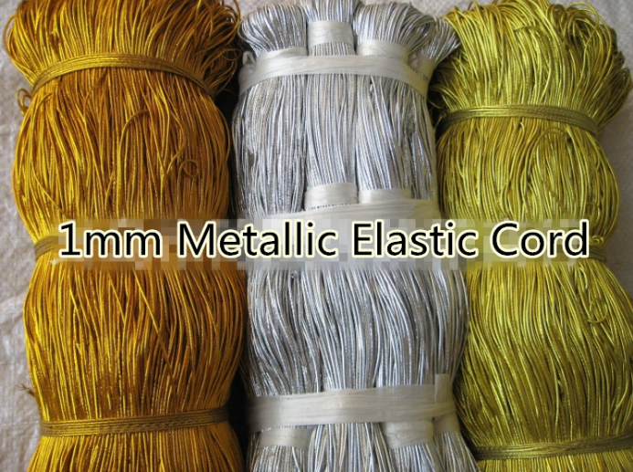 Factory Price Supply Gold Metallic Elastic Cord