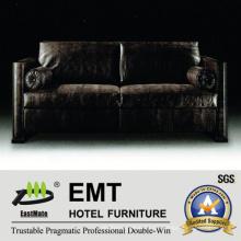 Nobler Schwarzes Sofa Set High Grade Hotel Sofa (EMT-SF37)