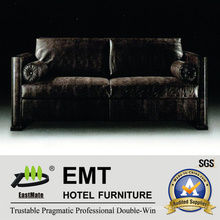 Nobler Black Sofa Set High Grade Hotel Sofa (EMT-SF37)