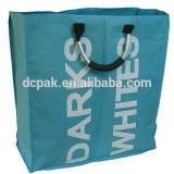 600D Oxford Polyester Collapsible Foldable Laundry Bag