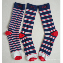 Multiple Stripes Cotton Man Trouser Socks with Custom Logo
