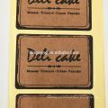 impresión autoadhesiva de encargo de la etiqueta autoadhesiva del papel de Kraft para embalar